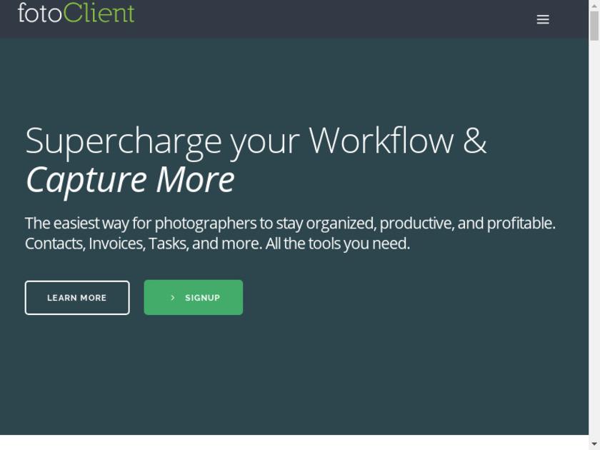 fotoClient Landing Page