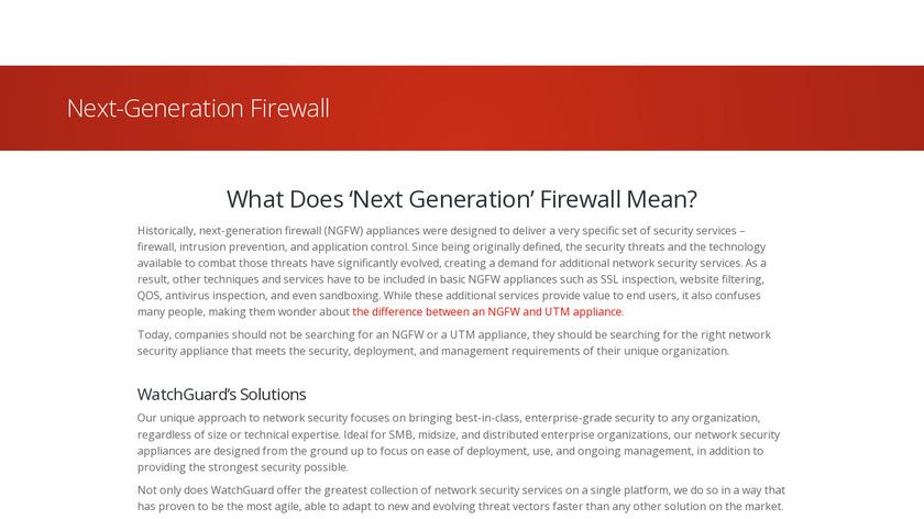 WatchGuard NGFW Landing Page