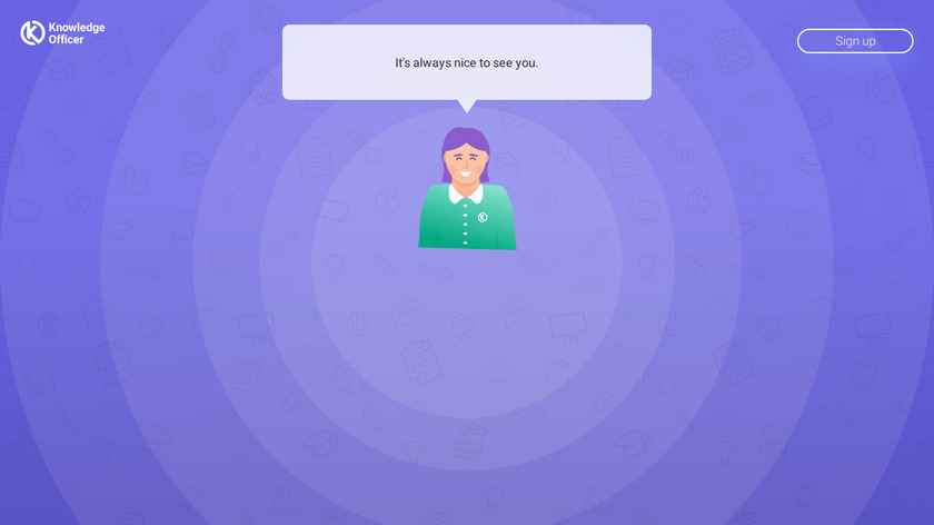 Knowledge Officer Landing Page