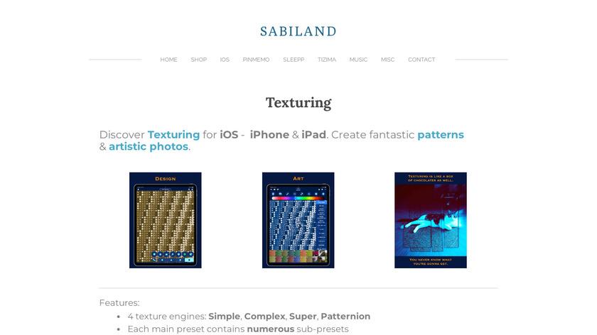Texturing Landing Page