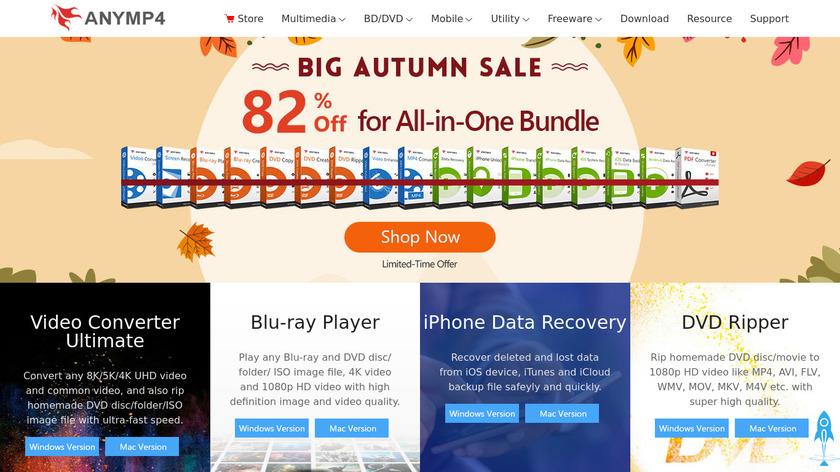 AnyMP4 Blu-ray Creator Landing Page