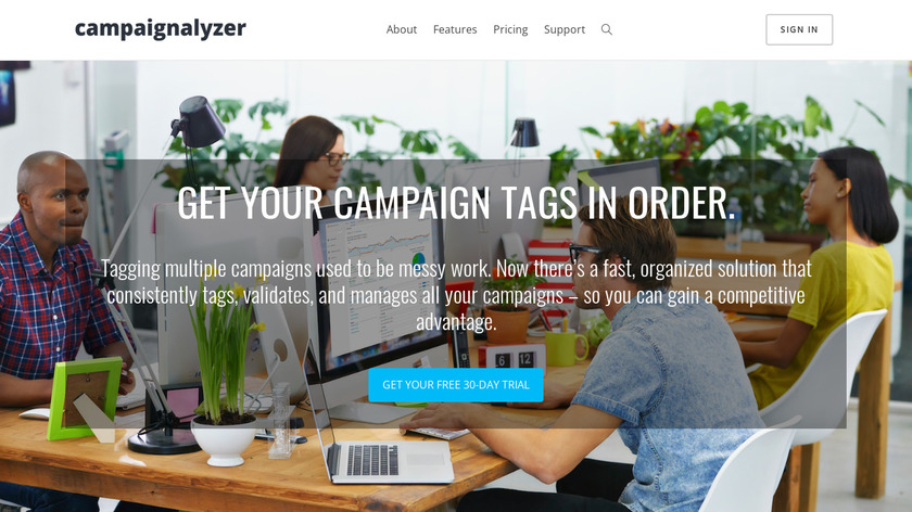 CampaignAlyzer Landing Page