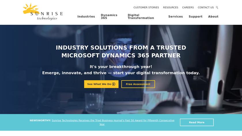 Sunrise Technologies Landing Page