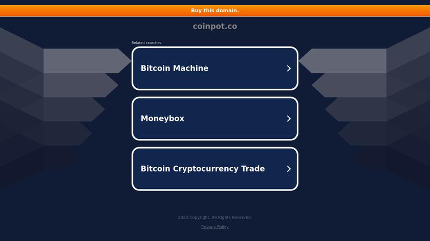 CoinPot Landing Page