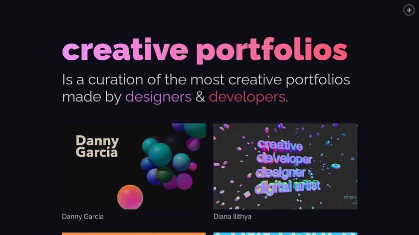 Creative Portfolios Landing Page