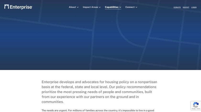 PolicyEnterprise Landing Page
