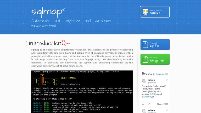 Sqlmap Landing Page