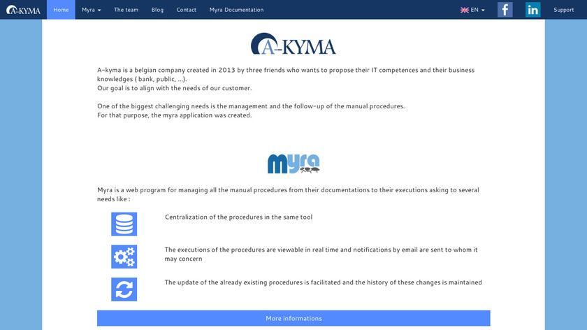 Myra Landing Page