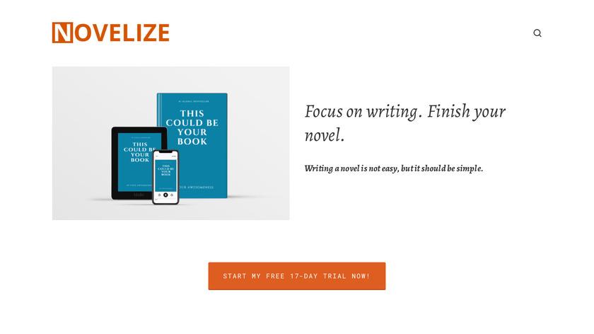 Novelize Landing Page