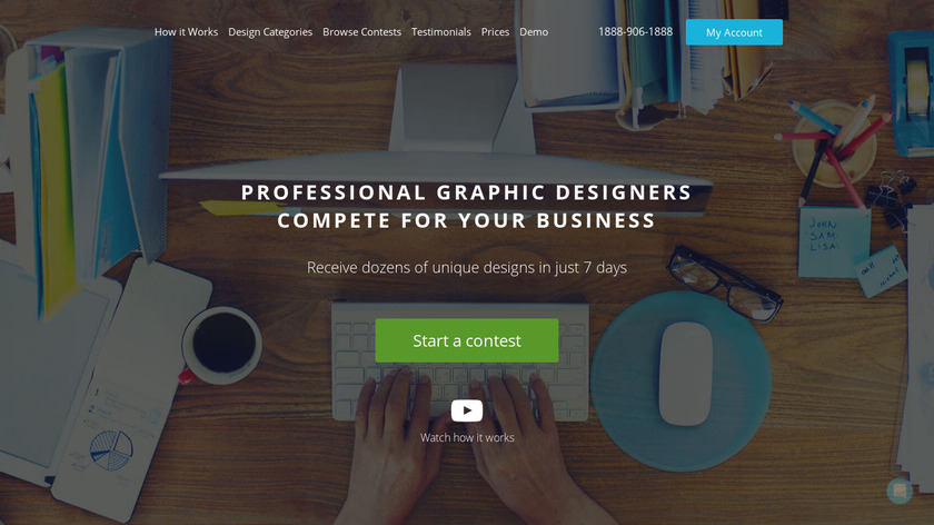 DesignContest Landing Page