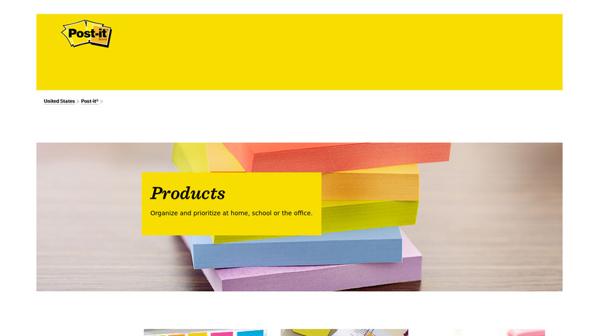 Post-it Digital Notes Landing Page