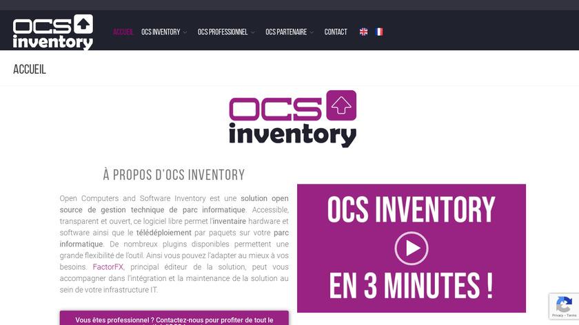 OCS inventory NG Landing Page
