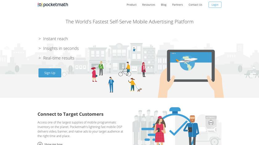 Pocketmath PRO Landing Page