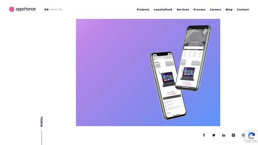 Appchance Landing Page