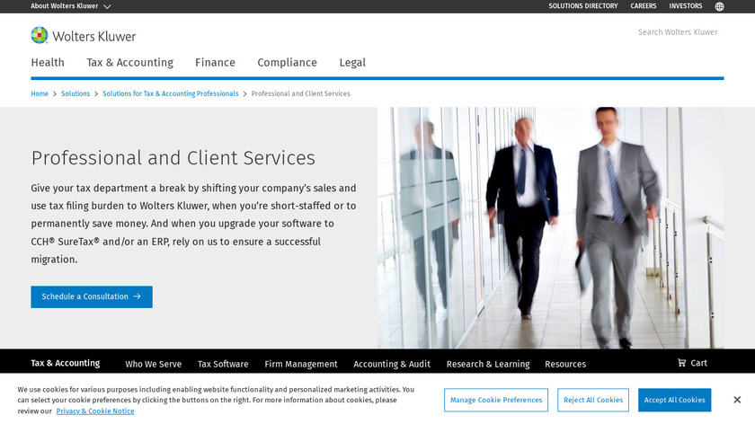 CCH Sales Tax Compliance Services Landing Page