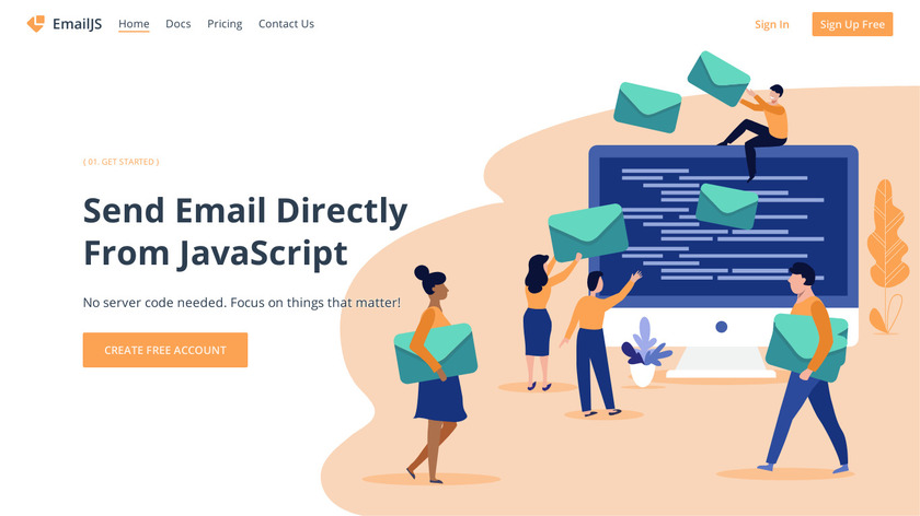 EmailJS Landing Page