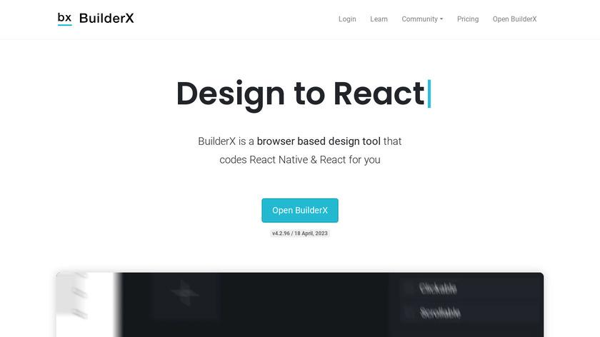 BuilderX Landing Page