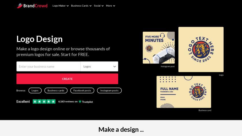 BrandCrowd Landing Page
