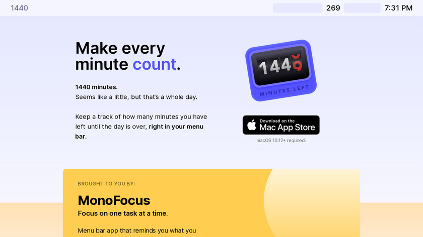 1440 Minutes Left Today Landing Page