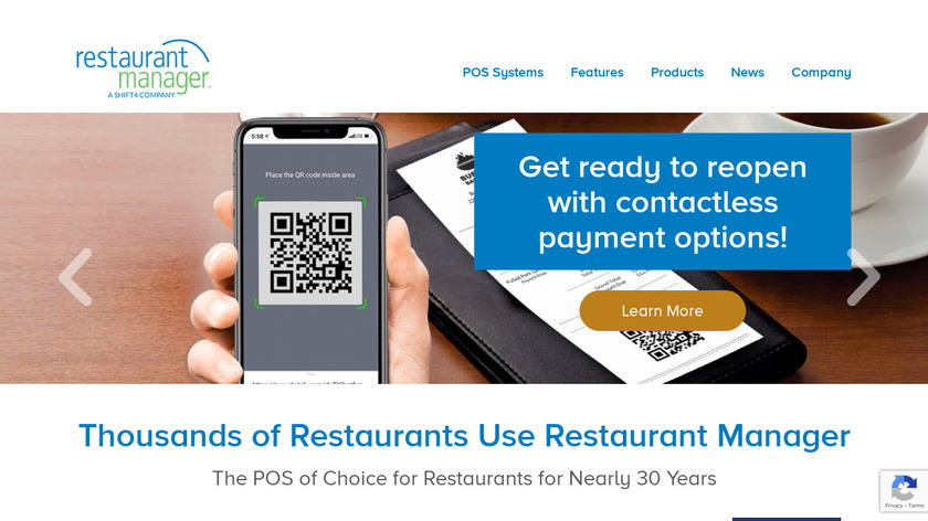 Restaurant Manager Landing Page