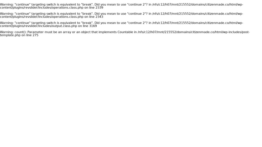 Citizen Made Landing Page
