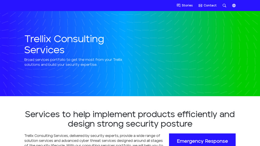 McAfee Security Services Landing Page