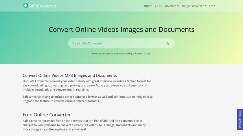 safetoconvert Landing Page