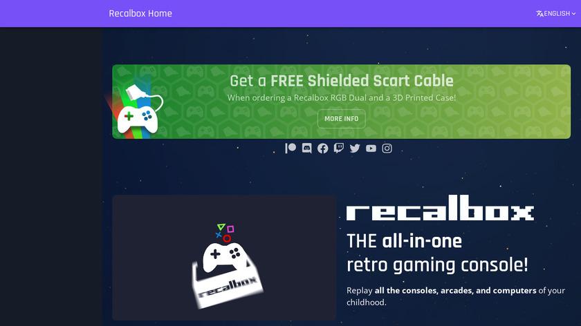 Recalbox Landing Page