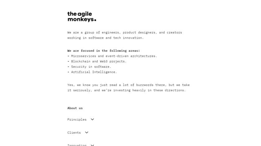 TheAgileMonkeys Landing Page