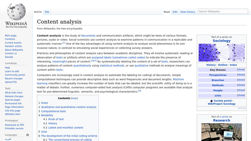 Content Analytics Landing Page