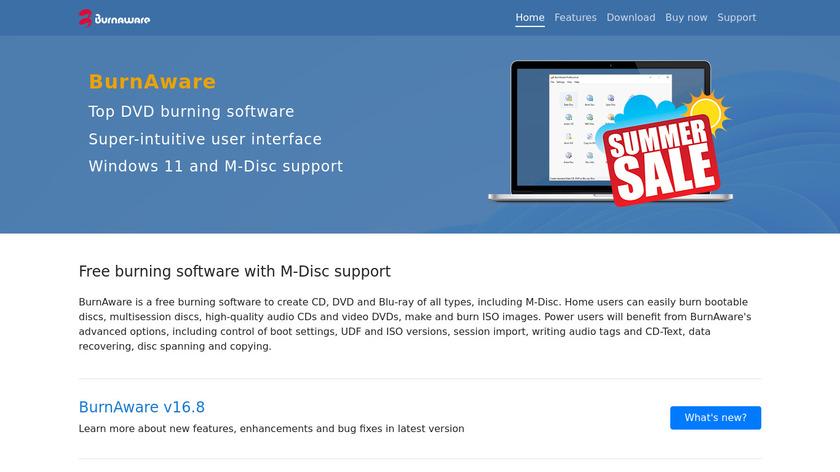 BurnAware Landing Page