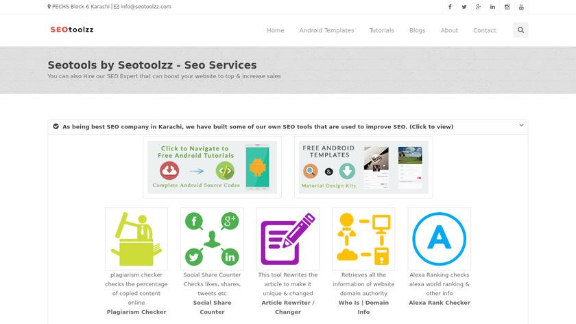 Seotoolzz Landing Page