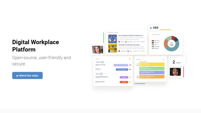 eXo Platform Landing Page