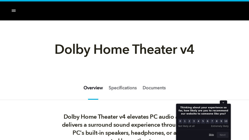Dolby Home Theater Landing Page