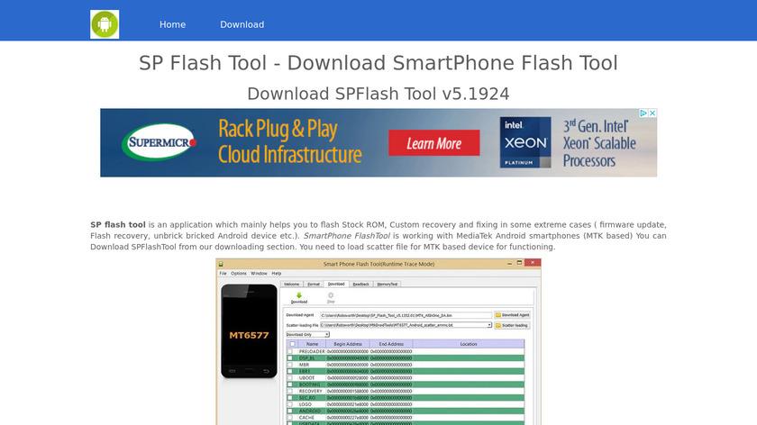 Sp Flash Tool Landing Page