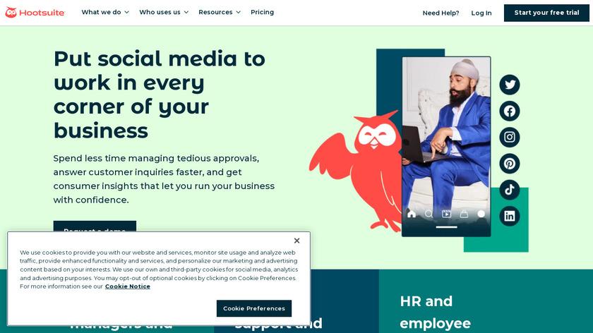 Hootsuite Enterprise Landing Page