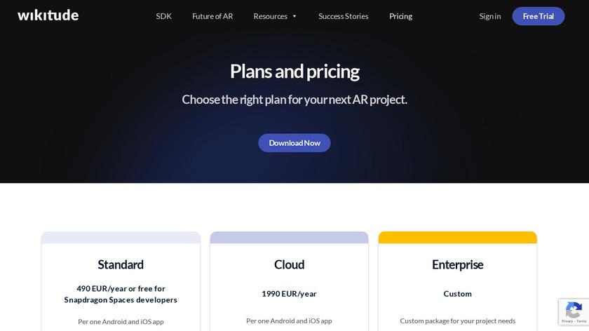 Wikitude Studio Landing Page