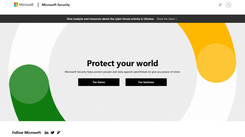 Microsoft Cybersecurity Protection Landing Page