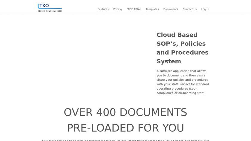TKO Software Landing Page