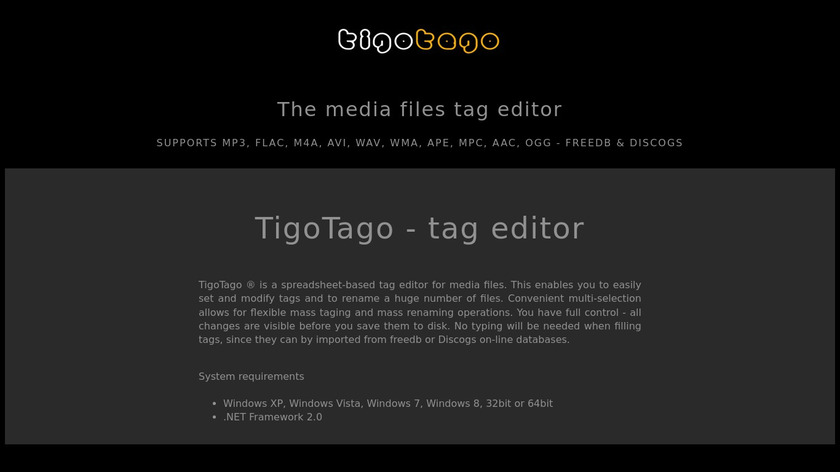 TigoTago Landing Page