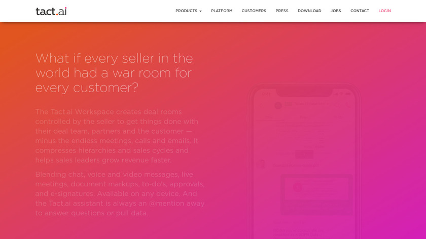 Tact.ai Thread Landing Page