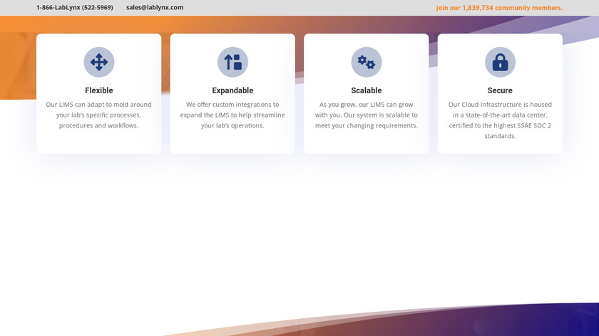 LabLynx LIMS Landing Page