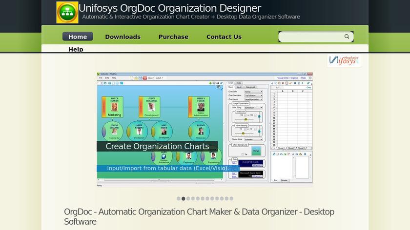 Unifosys OrgDoc Landing Page