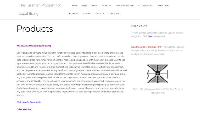 Tussman Program Landing Page