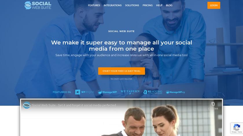 Social Web Suite Landing Page