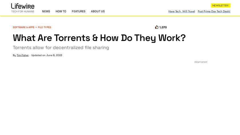 µTorrent Landing Page