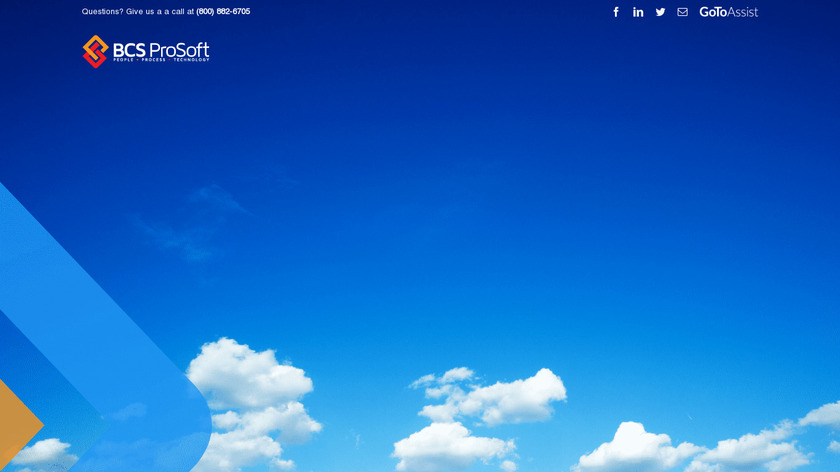 BCS ProSoft Landing Page