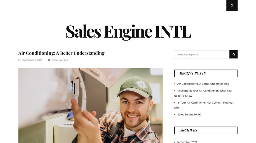 Sales Engine International Landing Page