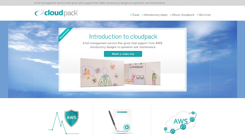cloudpack Landing Page
