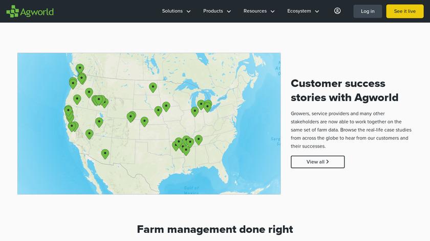 Agworld Landing Page
